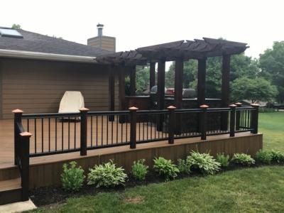 Trex Decking with Regal Rail