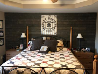 Master Bedroom Barnwood Wall